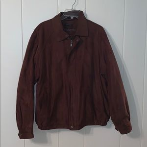 Claiborne brown sueded finish filled jacket